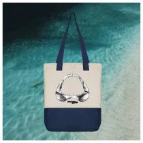 Breizh Traveller - Sac cabas zippé Requin / Shark - Australian Kiss - Sac à main - Bleu