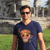 Breizh Traveller - T Shirt Homme col V Breizh Skull - La Calavera Bretaña - tee shirt homme