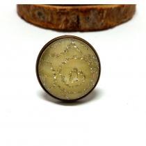 Breloques et cie - Bague cabochon pailleté - Bague - metal bronze