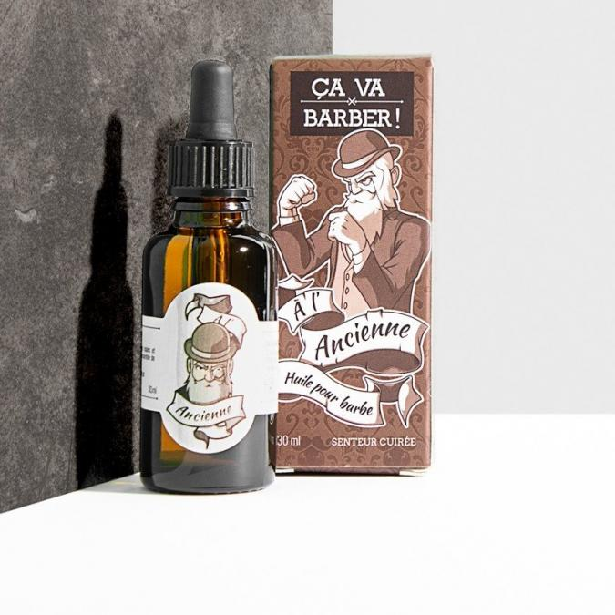 """ÇA VA BARBER - HUILE POUR BARBE BIO """"À L'ANCIENNE"""" - 30 ML - Huile pour barbe"""
