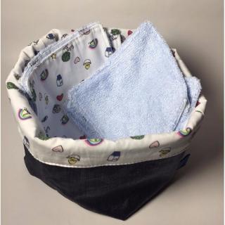 CABASUTRA - Vide Poches et lot de 7 lingettes - Lingette lavable