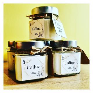 Caline - Rêve cantalien (taille moyenne) - Bougie - Musc, fève Tonka, héliotrope