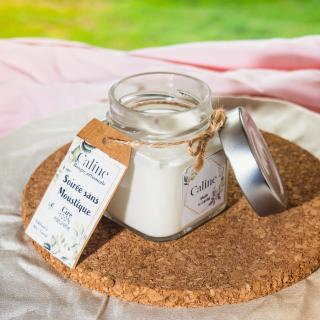 Caline - Soirée sans moustique (120g) - Bougie - Citronnelle, Géranium