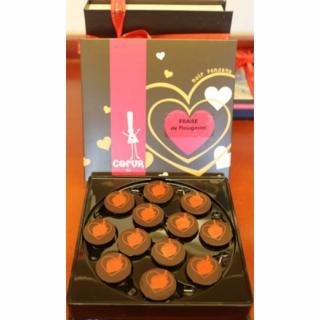 Maison Castelanne - Coeur De Bretagne - Fraise De Plougastel Au Caramel - 60 g - Chocolat