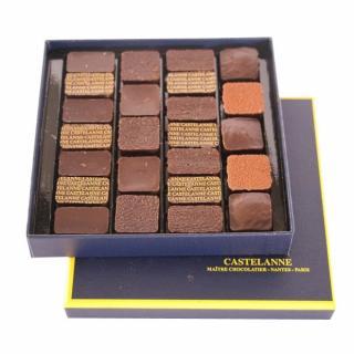 Maison Castelanne - Coffret Dégustation Crus De Cacao 24 Chocolats - 200 g - Chocolat