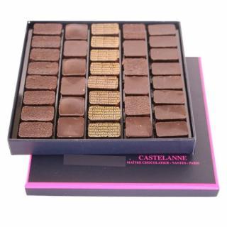 Maison Castelanne - Coffret Dégustation Crus De Cacao 36 Chocolats - 320 g - Chocolat
