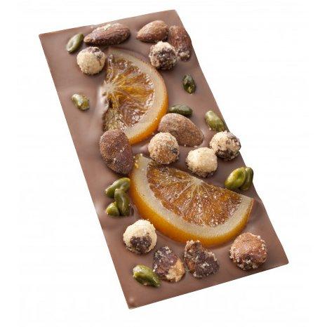 Maison Castelanne - Tablette MENDIANT Chocolat Au Lait Et Fruits Secs - 110 g - Chocolat