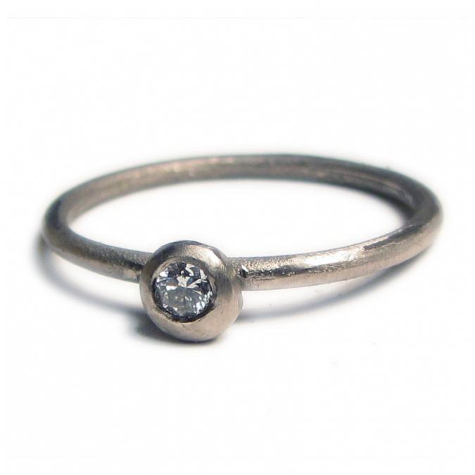 Catherine Marche Bijoux et Joaillerie - Bague Solitaire Diamant Or gris 18 ct - Bague - Or blanc