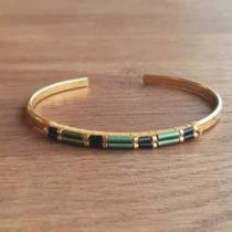 C'cédille - Bracelet Ana Vert - Bracelet - Plaqué Or gold filled