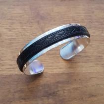 C'cédille - BRACELET GWAPA ARGENT NOIR - Bracelet - argent