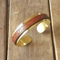 C'cédille - BRACELET GWAPA CAMEL - Bracelet - Plaqué Or gold filled