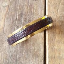 C'cédille - BRACELET GWAPA EBENE - Bracelet - Plaqué Or gold filled