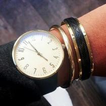 C'cédille - Bracelet Gwapa Noir & Or - Bracelet - Plaqué Or gold filled