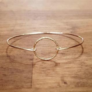 C'cédille - Bracelet Jonc Cercle - Bracelet - Plaqué Or gold filled