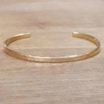 C'cédille - Bracelet Jonc martelé Or - Bracelet - Plaqué Or gold filled