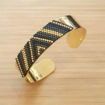 C'cédille - Bracelet Kaya Gris anthracite - Bracelet - Plaqué Or gold filled