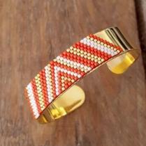 C'cédille - Bracelet Kaya Rouge safran - Bracelet - Plaqué Or gold filled