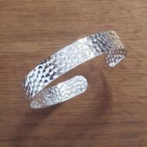 C'cédille - Bracelet martelé Argent - Bracelet - argent