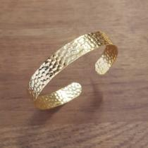 C'cédille - Bracelet martelé Or - Bracelet - Plaqué Or gold filled