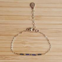 C'cédille - Bracelet Ola Bleu Nuit - Bracelet - Plaqué Or gold filled