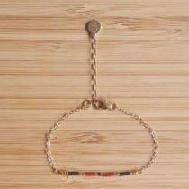 C'cédille - Bracelet Ola Grenat - Bracelet - Plaqué Or gold filled