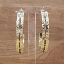 C'cédille - Créoles Icate Bronze - Boucles d'oreille - Plaqué or