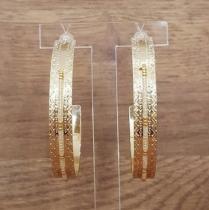 C'cédille - Créoles Icate Gold light - Boucles d'oreille - Plaqué or