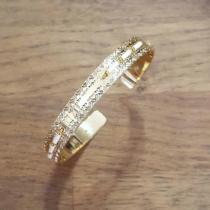 C'cédille - Jonc Icate Beige mat - Bracelet - Plaqué Or gold filled