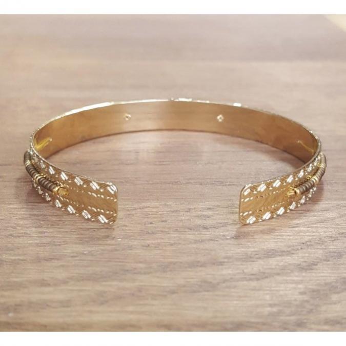 C'cédille - Jonc Icate Bronze - Bracelet - Plaqué Or gold filled