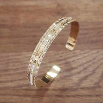 C'cédille - Jonc Icate Gold light - Bracelet - Plaqué Or gold filled