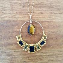 C'cédille - Sautoir Osiris Oeil de Tigre - Sautoir
