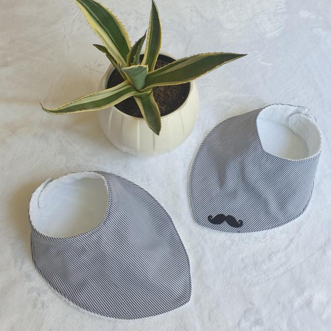 Chapiquí_accessoires - Lot de 2 bavoirs bandana - Bavoir