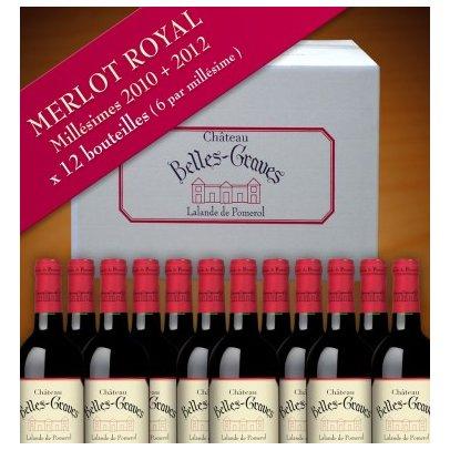 Château Belles-Graves - MERLOT ROYAL / 12 BOUTEILLES 2012-2014 - 2012 - Bouteille - 0.75L