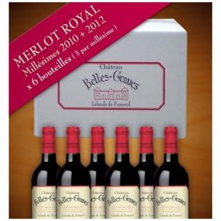 Château Belles-Graves - MERLOT ROYAL / 6 BOUTEILLES 2012-2014 - 2012 - Bouteille - 0.75L