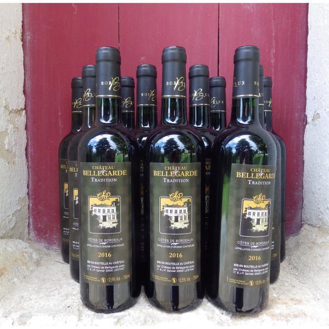 Château de Bellegarde - 12 Côtes de Bordeaux AOC  cuvée Tradition 2016 - 2016 - Bouteille - 0.75L