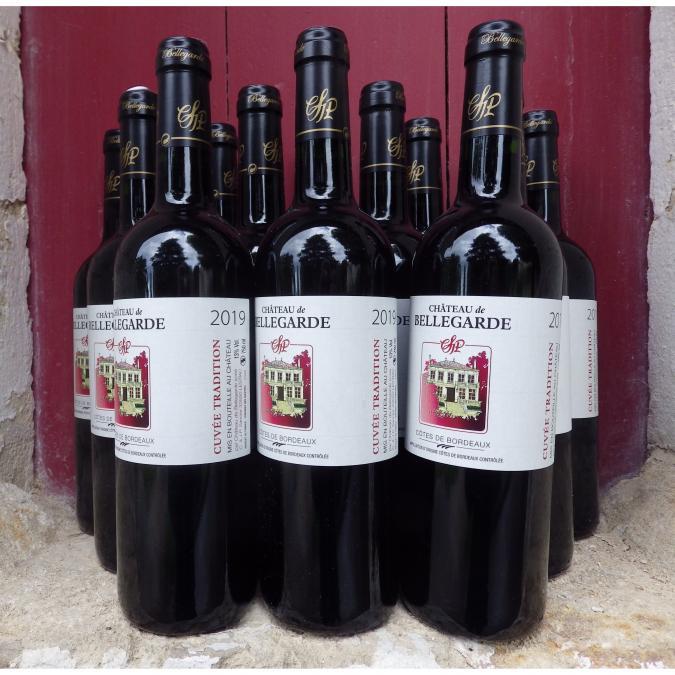 Château de Bellegarde - 12 Côtes de Bordeaux AOC cuvée Tradition 2019 - 2019 - Bouteille - 0.75L