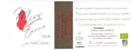 Château Haut Lavigne - Miss-Terre - blanc - 2013 - Bouteille - 0.75L