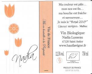 Château Haut Lavigne - Nadia Rosé - 2017 - Bouteille - 0.75L