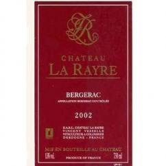 CHATEAU LA RAYRE - CHATEAU LA RAYRE - 2002 - Bouteille - 0.75L