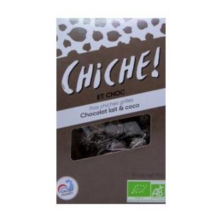 CHICHE - 6 SACHETS POIS CHICHES GRILLÉS – CHOCOLAT LAIT & COCO - pois chiche