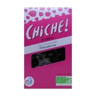 CHICHE - 6 SACHETS POIS CHICHES GRILLÉS – CHOCOLAT NOIR - pois chiche