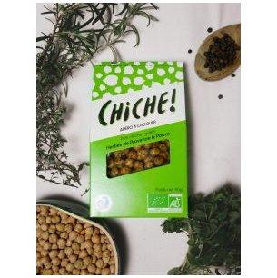 CHICHE - POIS CHICHES GRILLÉS – PACK HERBES DE PROVENCE & POIVRE (3X90G) - Apéritif et biscuits salés - 0.180