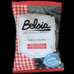 Chips BELSIA - Chips artisanales au piment d'Espelette - Chips