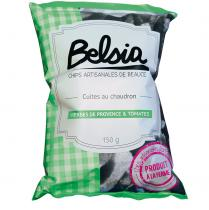 Chips BELSIA - Chips artisanales aux herbes de Provence & Tomates - Chips