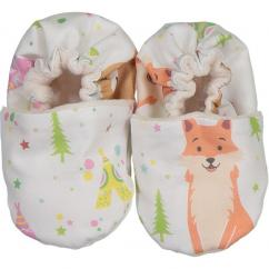 """CHOUCHOUETTE - Chaussons souples """"Fox and bear"""" - 0/6 mois - Chausson"""