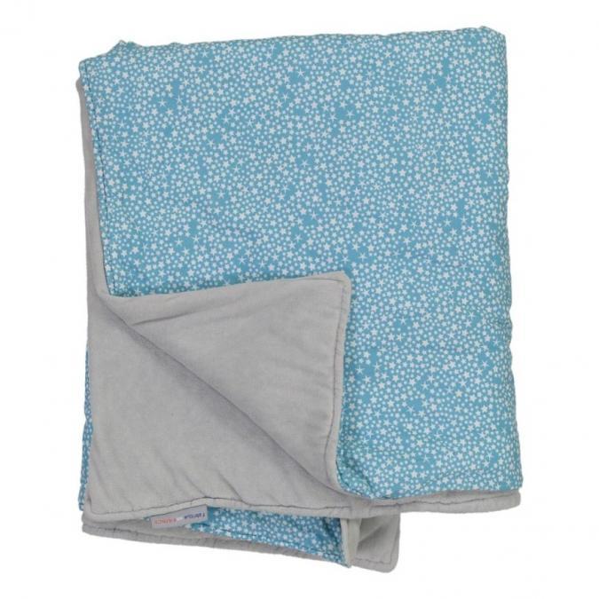 CHOUCHOUETTE - Couverture douceur constellation bleu - Couverture pour bébé
