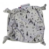 CHOUCHOUETTE - Doudou plat Fox and Bear noir et blanc - Doudou (bébé)