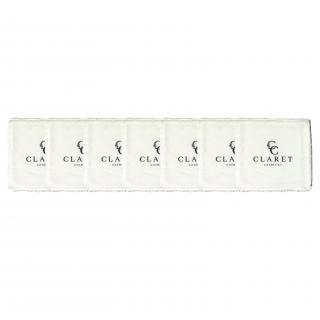 Claret Cosmetics - Lot de 7 lingettes démaquillantes lavables - Lingette