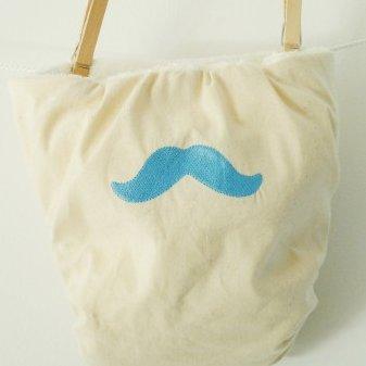 """Cococinelle - Couche lavable T.L 100 %coton Bio Brodée """" Moustache"""" - Couche lavable"""