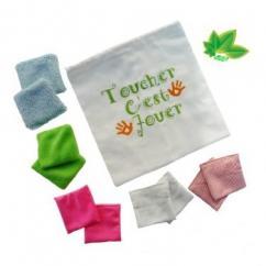 """Cococinelle - Coussins sensoriels """" Toucher c'est jouer"""" vert - coussin sensoriel"""